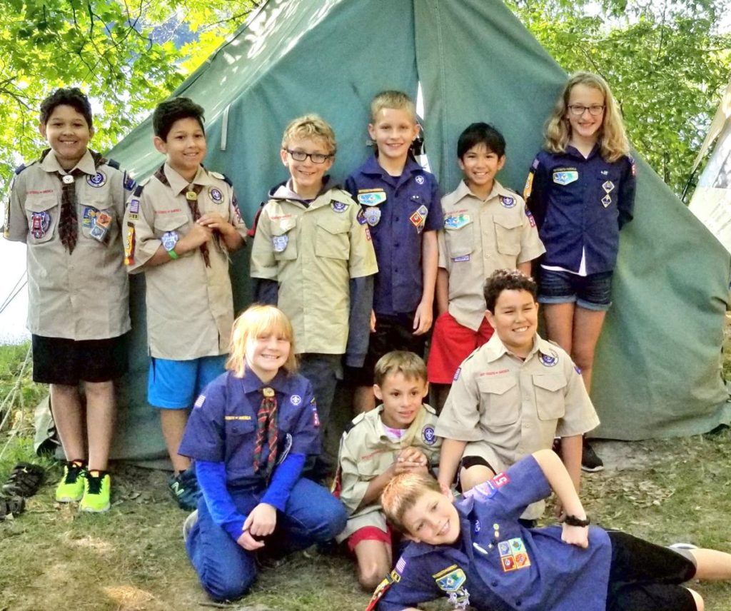scoutsgirl and boy